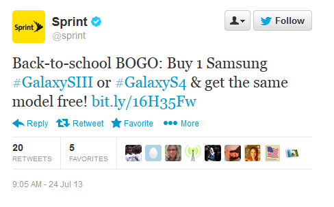 Sprint Offers BOGO Deal For Samsung Galaxy S4 And Galaxy S3 Handsets