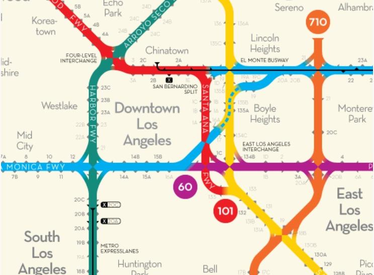 Los Angeles Freeway Map