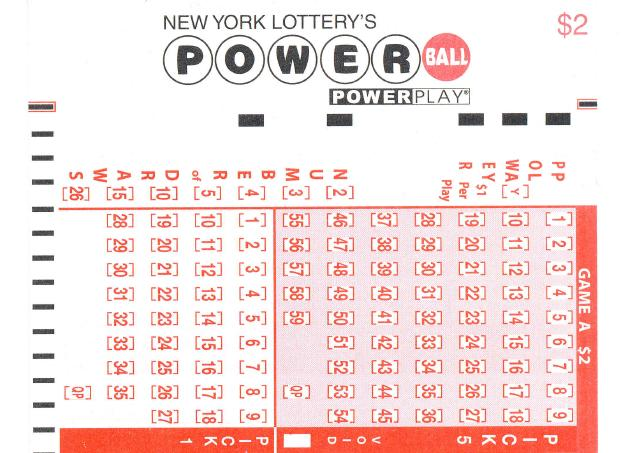 New York Lottery's Powerball Ticket-Detail