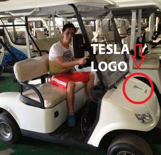 Zhan Bao Sheng Tesla golf cart