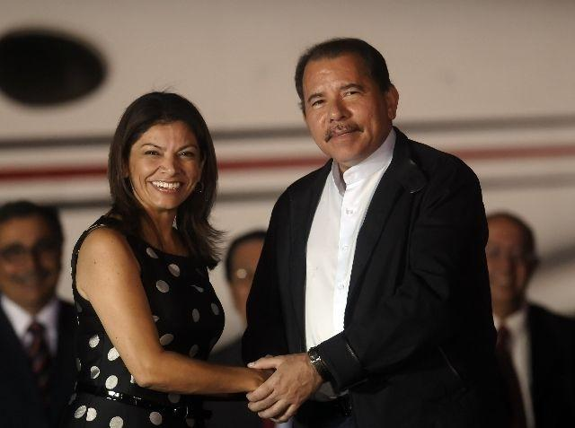 Daniel Ortega and Laura Chinchilla