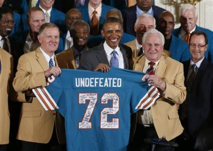 Dolphins Football Legends Reap White House Praise 40 Years Late