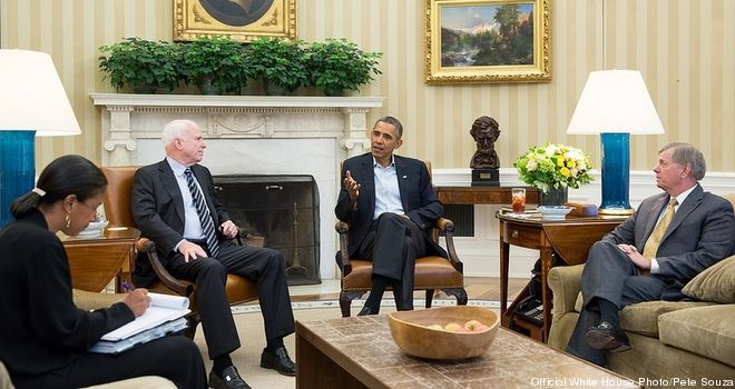 Obama, McCain, Graham, Rice meet on Syria