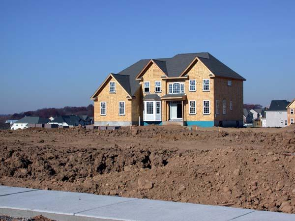 Another home being built in Bucks County