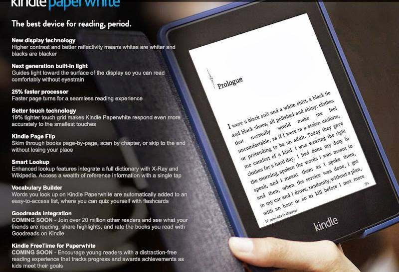 New Amazon Kindle Paperwhite e-reader