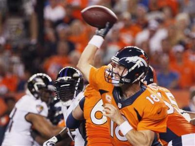 Manning In Seventh Heaven As Broncos Dump Ravens