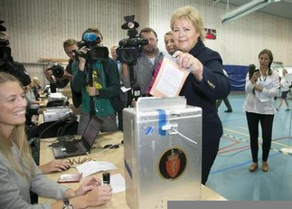 Erna Solberg Becomes Norway's Prime Minister As Conservatives Sweep Election