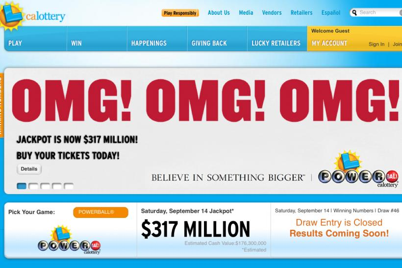 california lottery winning numbers powerball