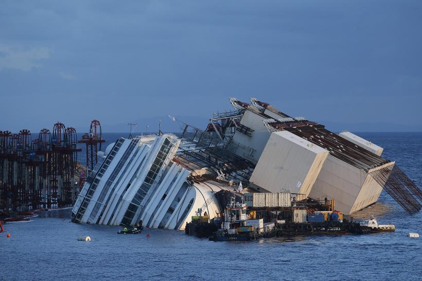 Costa Concordia Salvage progress