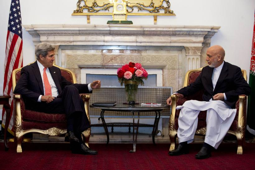 Kerry and Karzai