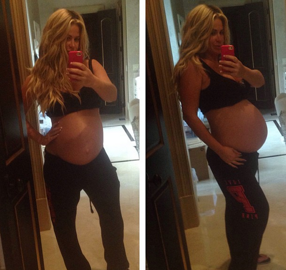 Kim Zolciak Twin Baby Bump