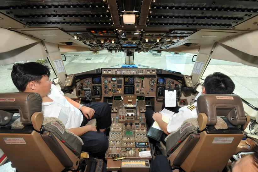 Mongolian Airlines Boeing 767 flight deck
