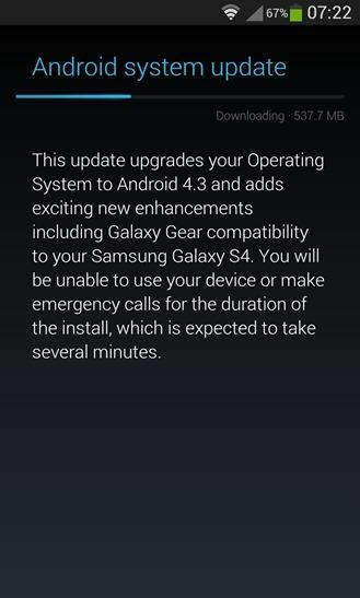 Sprint Galaxy S4 Receives Android 4.3 Jelly Bean, AT&T Update Expected Nov. 13