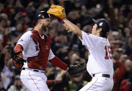 Red Sox Win World Series With Rout Of Cardinals