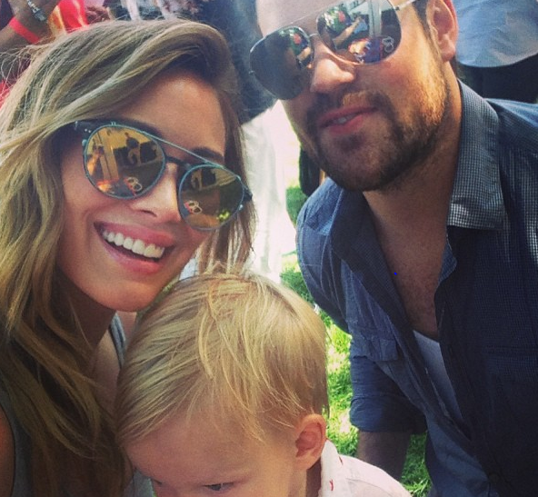 Hilary Duff, Mike Comrie and Baby Luca
