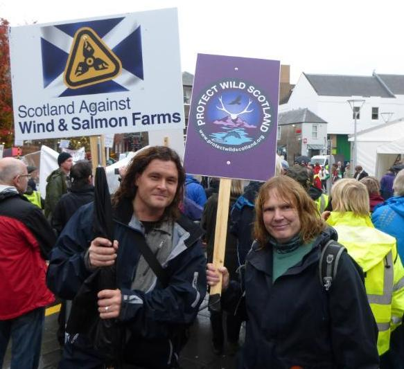 Protect Wild Scotland protesters