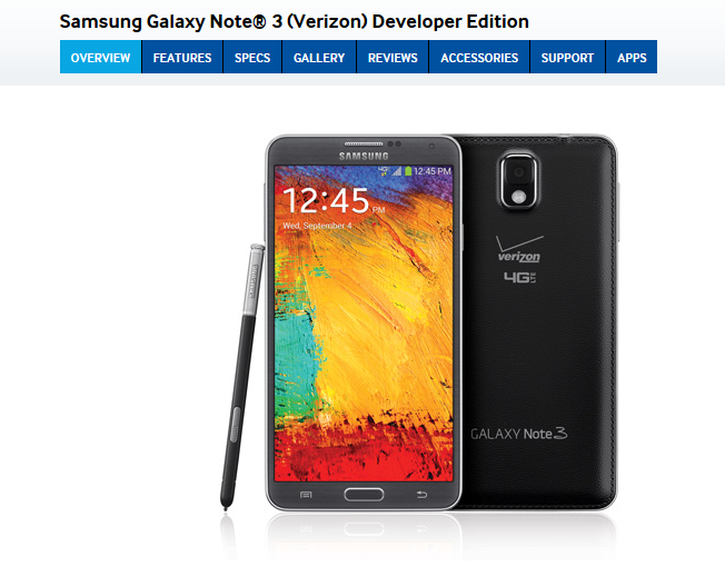 Samsung Galaxy Note 3 Release: Developers Edition Has ...