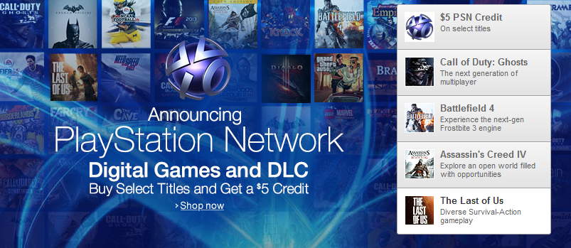 PlayStation Network Amazon Store