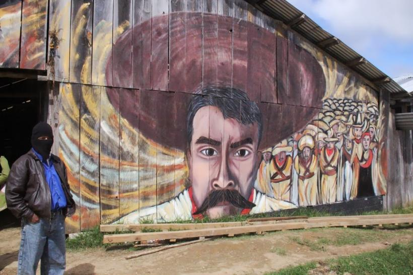 Zapatista reminder by Oventik
