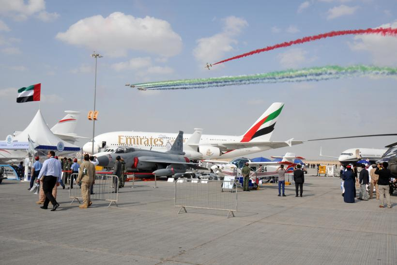 A380 Dubai Air Show ensemble view