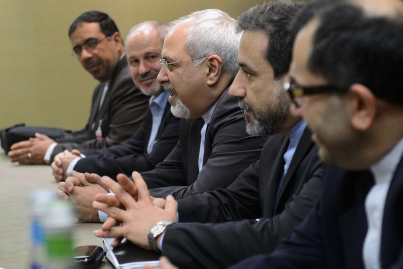 Foreign Minister Mohammad Javad Zarif at Iran nuclear talks in Geneva