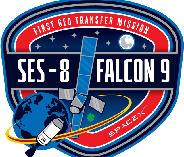 SpaceX SES-8 Launch Patch