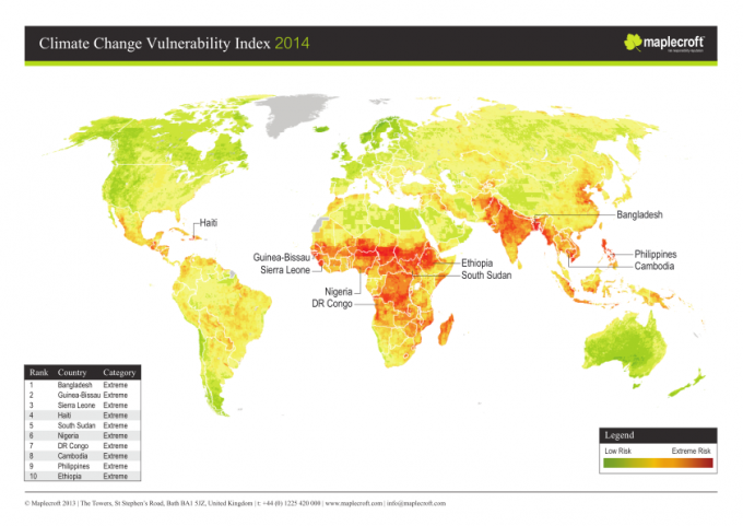 164834-Climate_Change_Vulnerability_Index_ 2014_Map