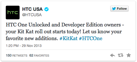HTC One Unlocked And Developer Edition Receive Android 4.4 KitKat; HTC Sense 5.5 Also On Board
