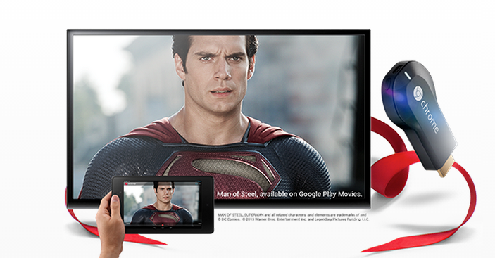 Chromecast Update Android 4.4.1 KitKat Mirroring Google Play Superman Man Of Steel
