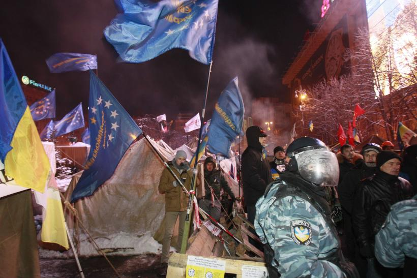 Kiev Ukraine protest camp