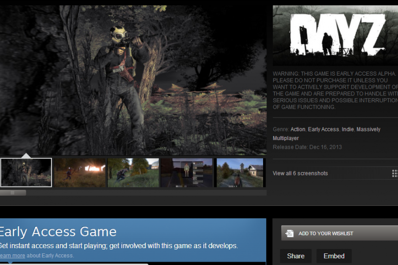 DayZ Standalone Alpha Steam Early Access