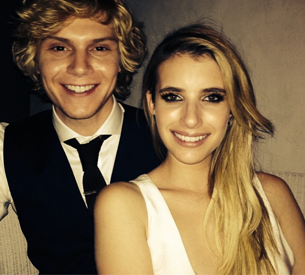 Emma Roberts with Fiancé Evan Peters
