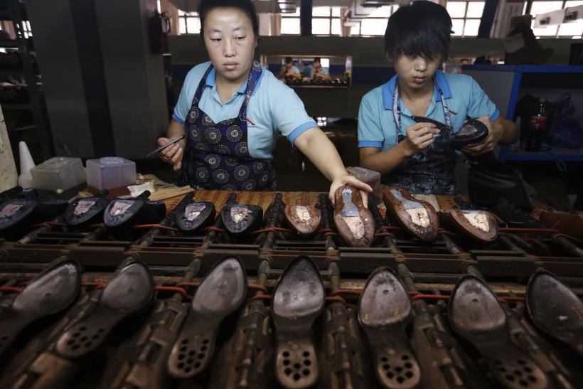 China shoe factory