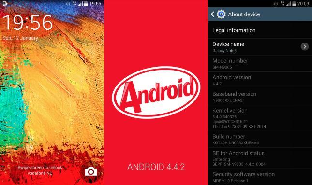 Android 4.4 KitKat firmware for Galaxy Note 3