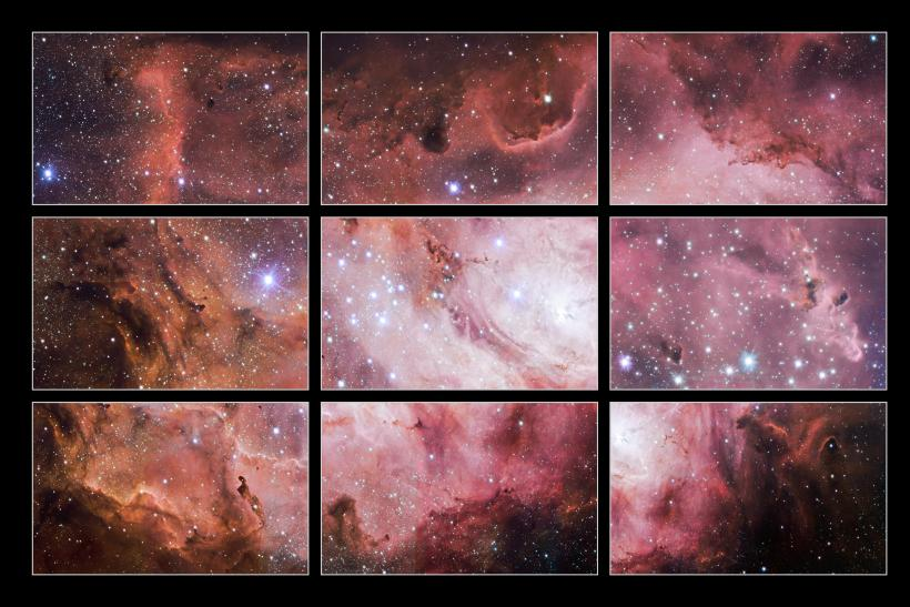 Lagoon Nebula Sections