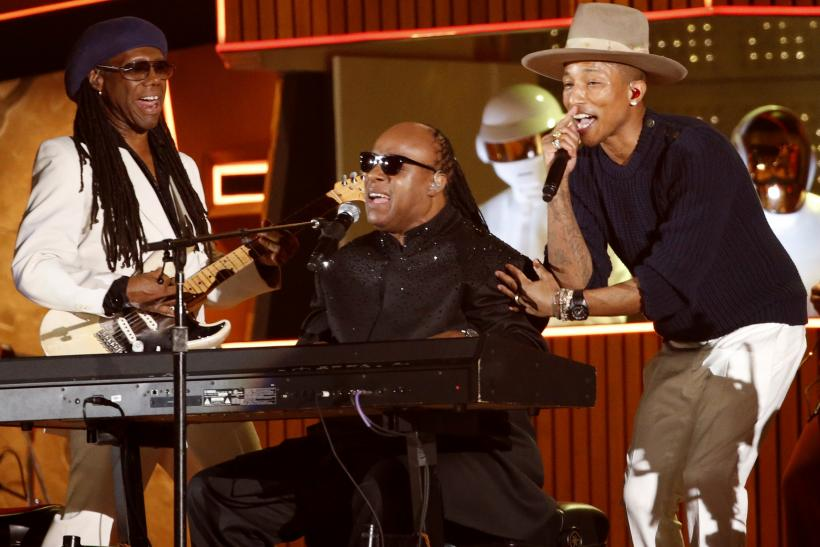 Grammy 2014 Performances Stevie Wonder Daft Punk Niles Rodgers