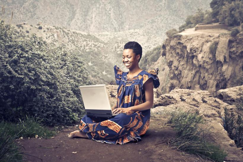 Africa internet laptop by Shutterstock