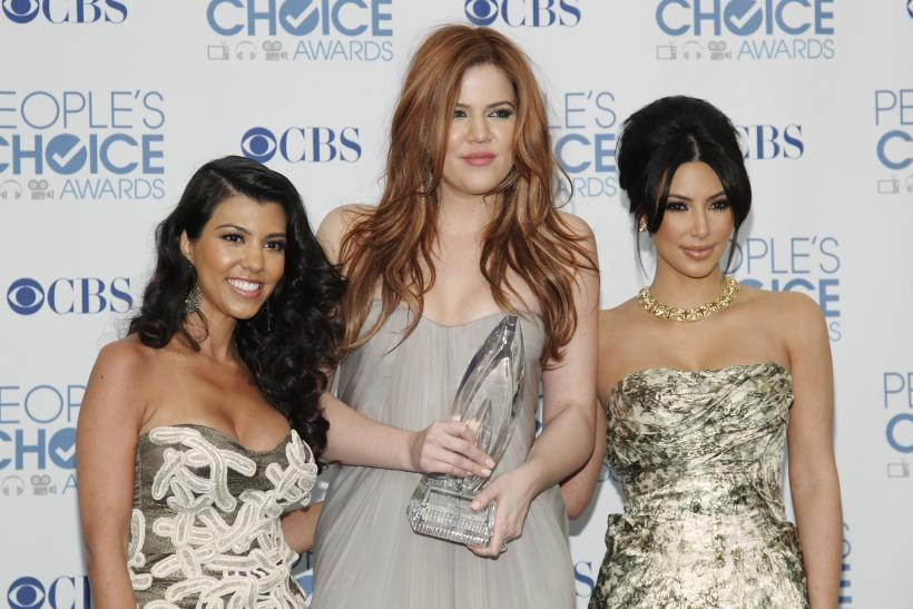 (L-R) Kourtney, Khloe and Kim Kardashian