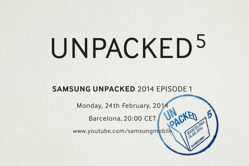 Samsung Unpacked 2014 Episode 1 invitation