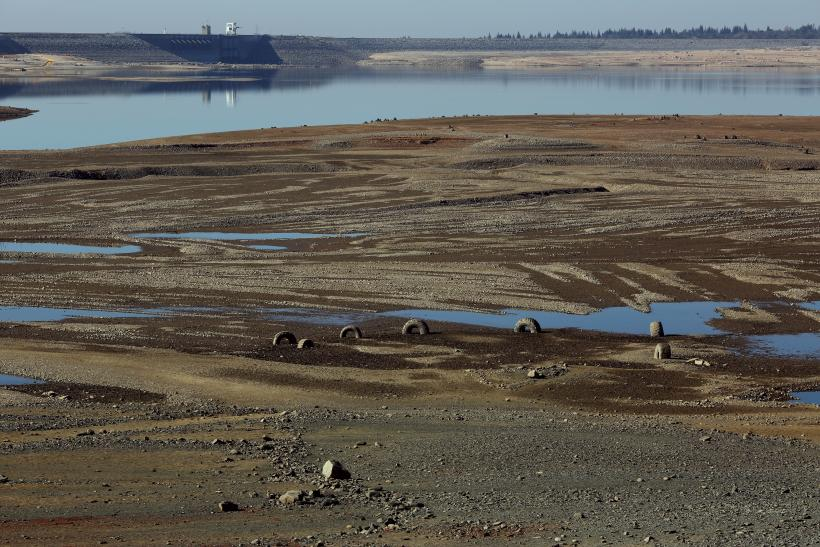 California Drought Folsom Lake Jan 2014