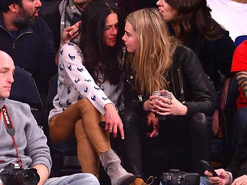 Cara Delevingne and actress Michelle Rodriguez