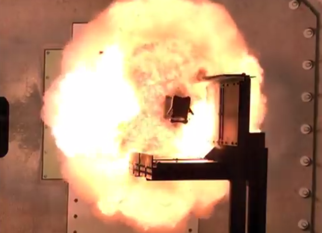 Electromagnetic Rail Gun Test