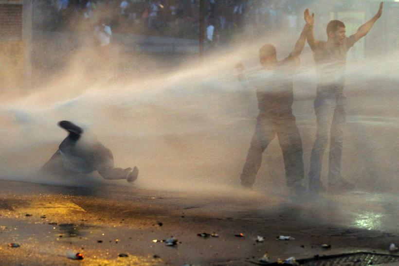 Venezuela water cannon