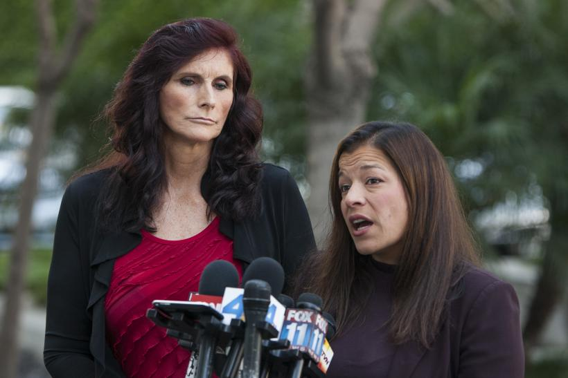 Cindy Lee Garcia (L) and her attorney