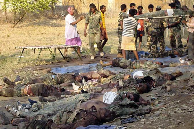 Maoist violence in Dantewada (photo does not relate to latest incident)