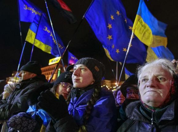 Ukraine women protesters