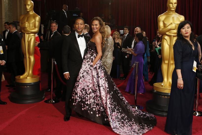 John Legend and Chrissy Teigen Oscars 2014