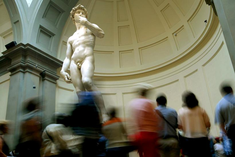 Michelangelo's iconic statue of David