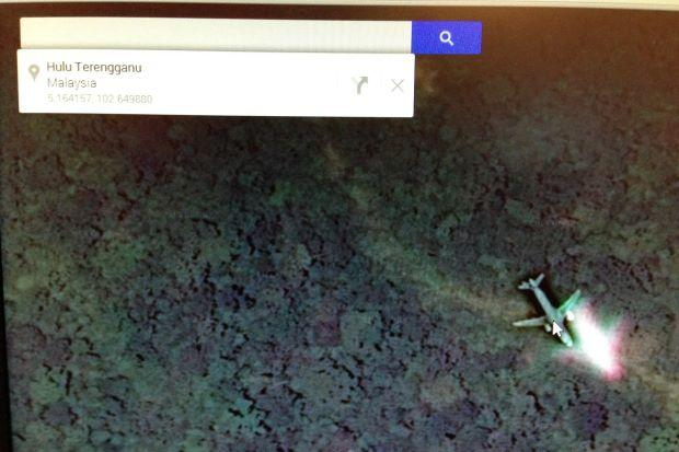 Airplane on Google Maps