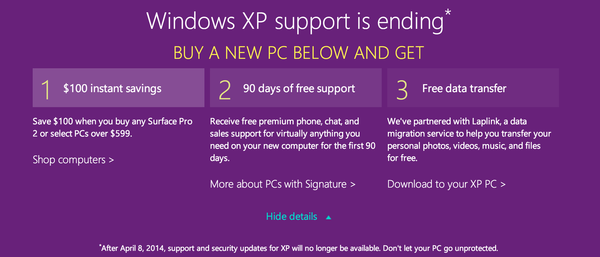 Microsoft Offering $100 To Upgrade From Windows XP